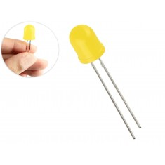 LED Amarelo 10mm Difuso