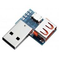 Adaptador USB 3 em 1 para Micro USB, USB fêmea e DIP