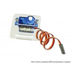 Suporte Acrílico para Micro Servo Motor Usinainfo - Compatível com SG90