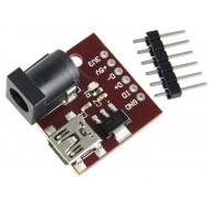 Regulador de Tensão AMS1117 Conversor Step Down DC (Para Menos) com Conexão P4 e Mini USB - 3.3V e 5-12V