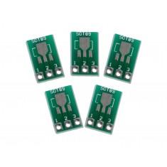 Adaptador Sot223 / Sot89 SMD Para DIP - Kit com 5 Unidades