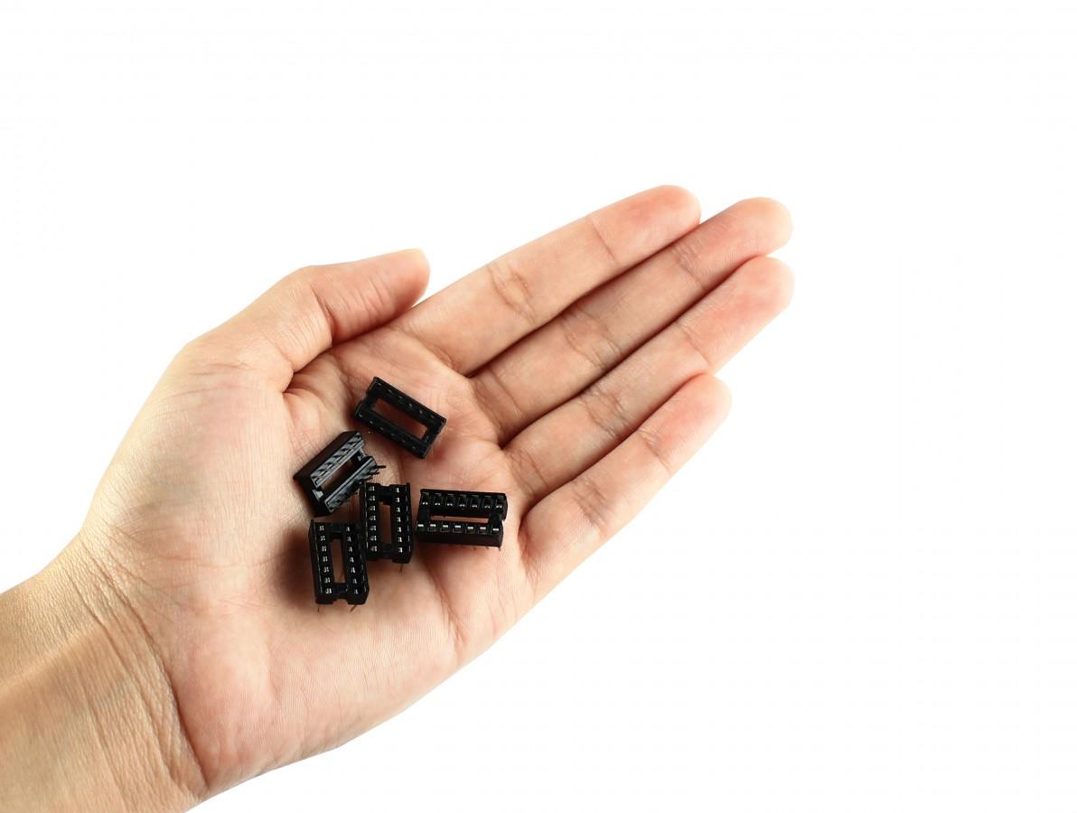 Soquete Estampado 14 pinos para CI - Kit com 5 unidades