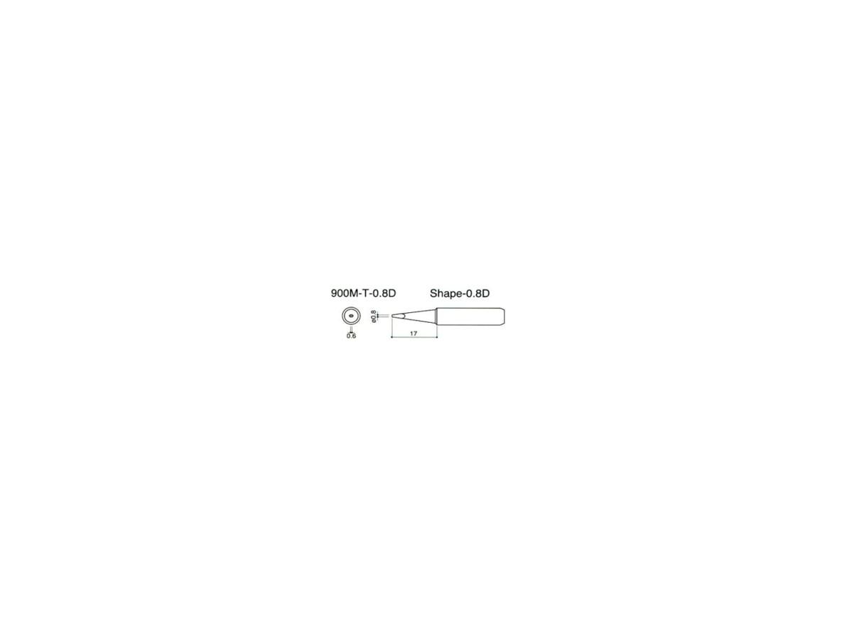 Ponta para ferro de solda tipo cônica - 900M T 0.8B