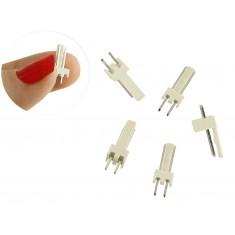 Conector 5045 2 Pinos Macho - Kit com 5 Unidades