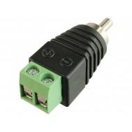 Plug RCA Macho com Bornes