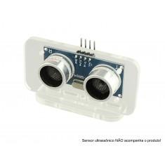 Suporte para Sensor Ultrassônico - Retangular em Acrílico