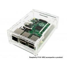 Case para Raspberry Pi 3 Modelo B e B+ em Acrílico - CAT10