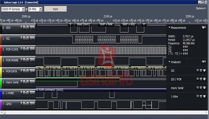 Analisador Lógico 24Mhz 8CH