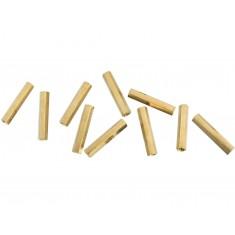 Espaçador Metálico Sextavado de Bronze M3 x 25mm PCB - Fêmea x Fêmea - Kit com 10 unidades