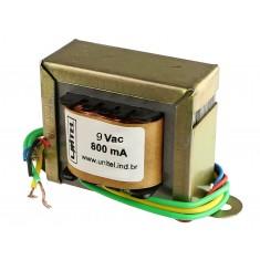 Transformador Trafo 9VAC 800mA Bivolt de Uso Geral