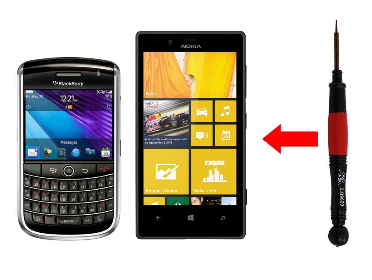 Chave Torx T2 para desmontagem de aparelhos BlackBerry e Nokia Lumia 720 - B9800