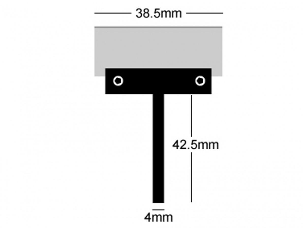 Ponta para ferro de solda tipo espátula para remoção de cola UV - Ferro 30W