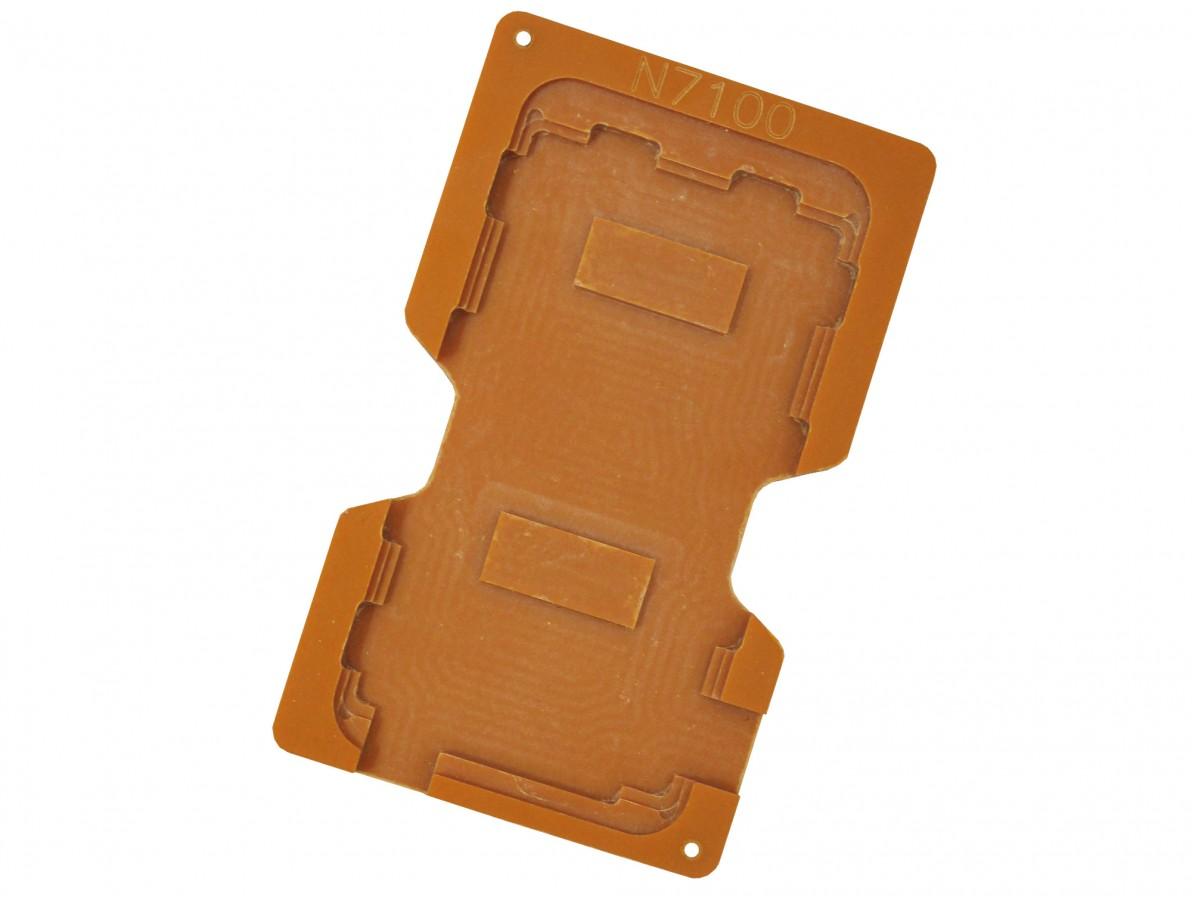 molde para troca da tela de vidro do samsung n7100