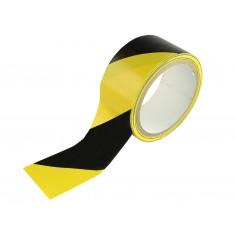Fita Adesiva para Demarcação Zebrada (Amarelo e Preto) 14 metros - Brasfort