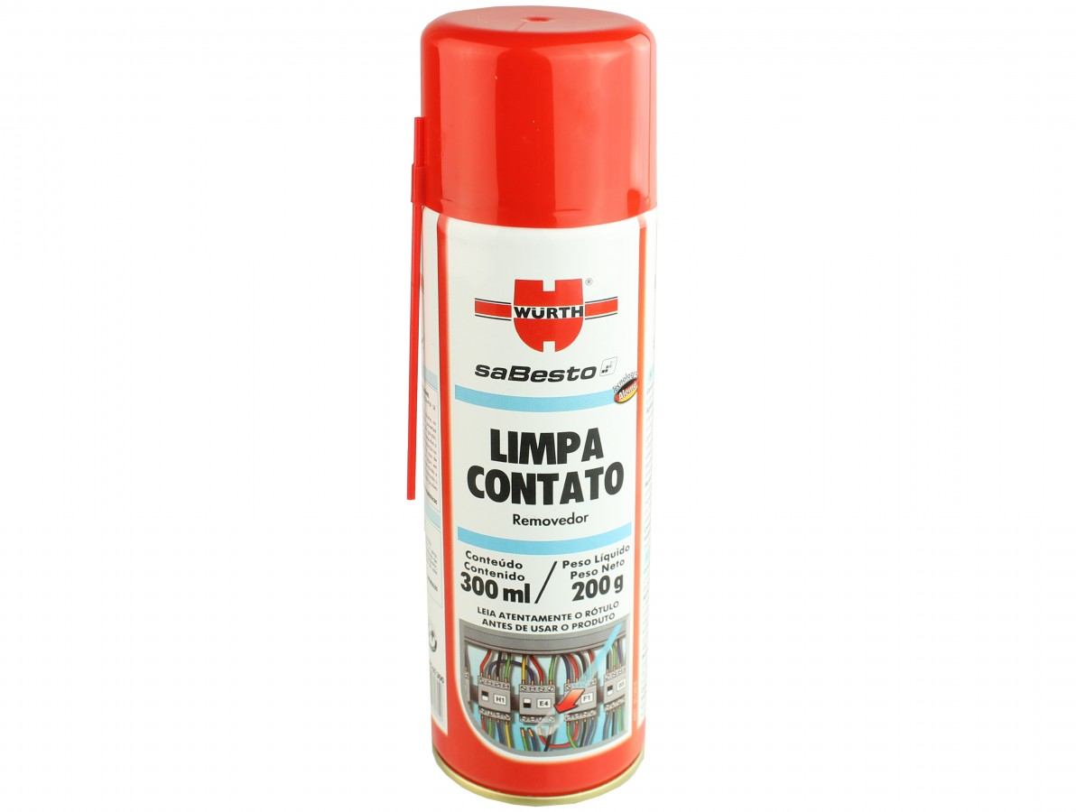 Limpa contato spray para remoção de resíduos em circuitos eletroeletrônicos - Wurth
