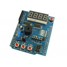 Shield Multifunções para Arduino K586 com Buzzer, Display, Push Button + Interfaces Extras