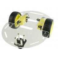 Carrinho Arduino / Carro Robô 2WD 80RPM Acrílico 3mm - Kit Chassi Usinainfo