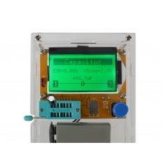Medidor de ESR Testador Universal de Componentes Eletrônicos LCR-T4 + Case e  Manual