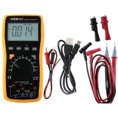 """Multímetro Digital Profissional Victor 86C Automático """"Auto Range"""" com USB por Infravermelho CAT IV 600V"""