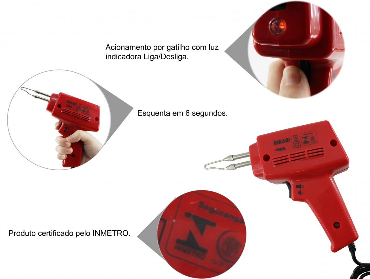 Pistola de Soldar Universal com Aquecimento Instantâneo Hikari - Fire 100