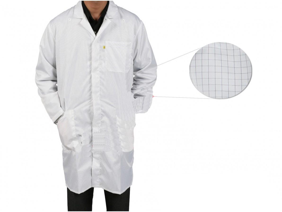Jaleco / Avental Antiestático ESD Branco - Tamanho G