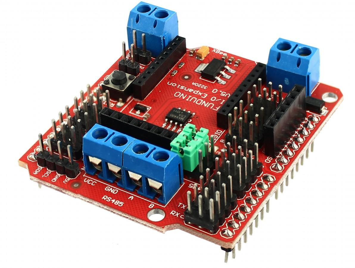 I/O Expansion V5.0 - Shield Arduino Expansor de Entradas e Saídas V5.0