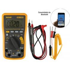 """Multímetro Digital Hikari Automático """"Auto Range"""" com Bluetooth HM-2400 CAT IV 600V"""