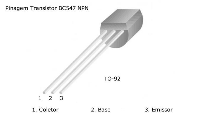 Transistor BC547B - Kit com 5 unidades