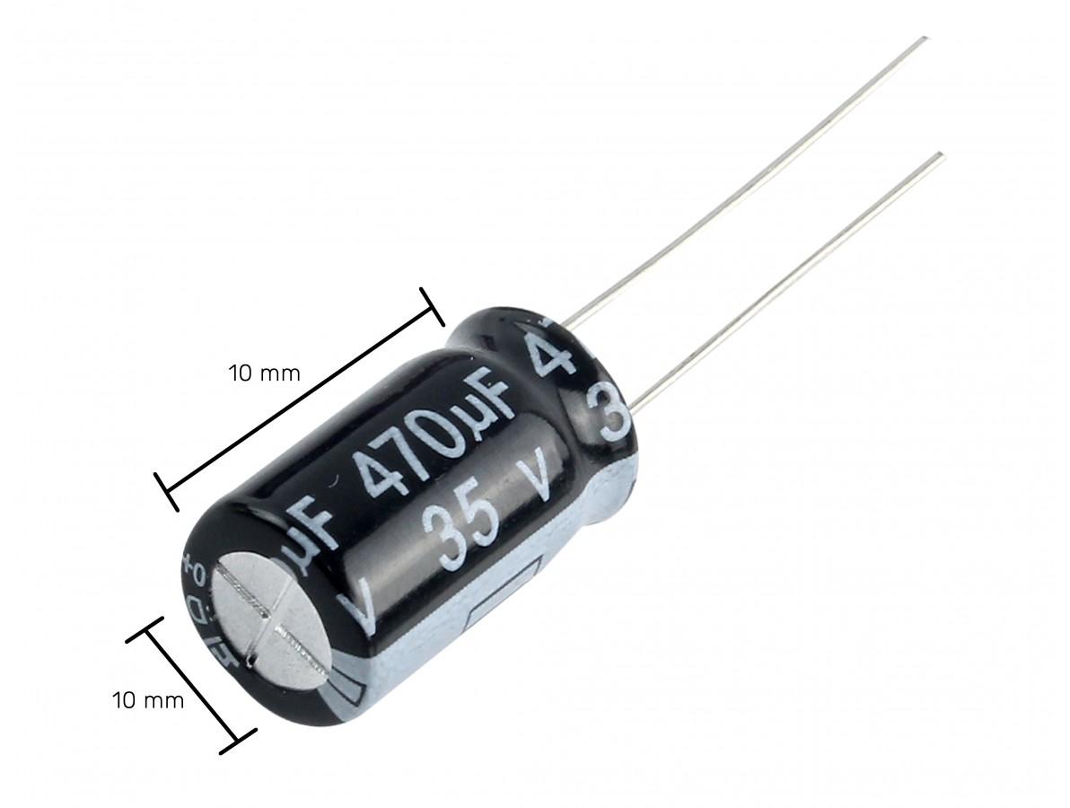 Capacitor Eletrolítico 470uF 35V
