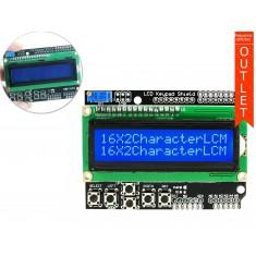LCD Keypad Shield 16x2 para Arduino - Outlet