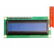 Display LCD 16x2 I2C com Fundo Azul - OUTLET
