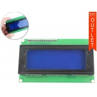 Display LCD 20x4 I2C com Fundo Azul - Outlet