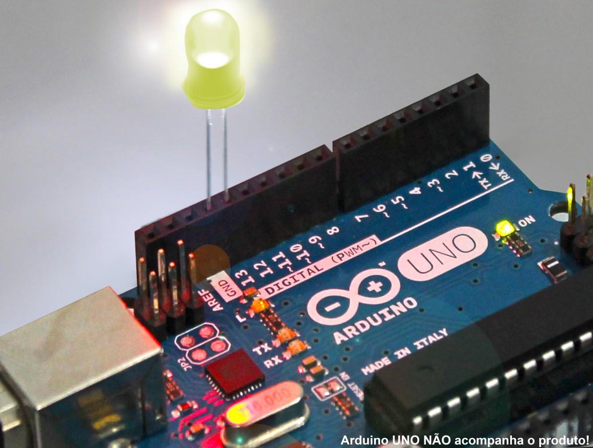 LED Amarelo de Alto Brilho  5mm 800-1000 MCD