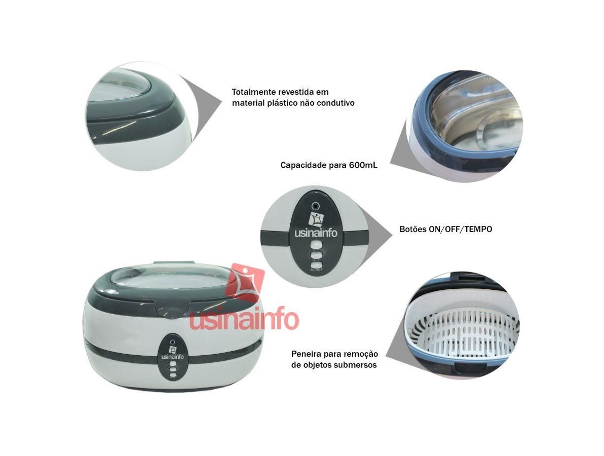 Cuba Ultrassônica Microprocessada para limpeza e desoxidação - 600ml - VGT 800