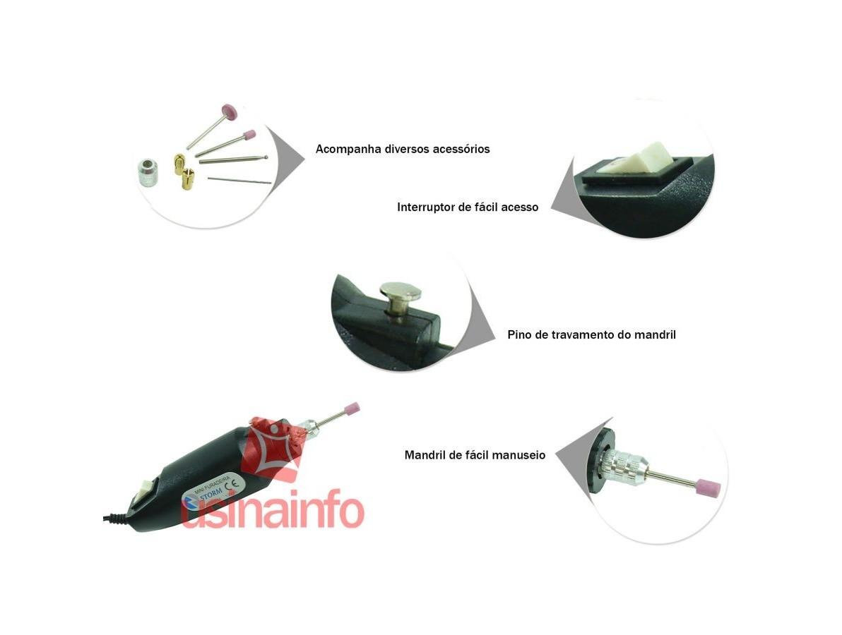 Mini Furadeira / Micro Retífica com Acessórios (sem fonte)