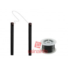 Separador de LCD - Fio de Aço Molibdênio 0,12mm com ~100metros + Par de Hastes