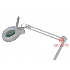 Lupa de Bancada com Iluminação LED 6W e Aumento 8D - Solver HL-500 (Bivolt)