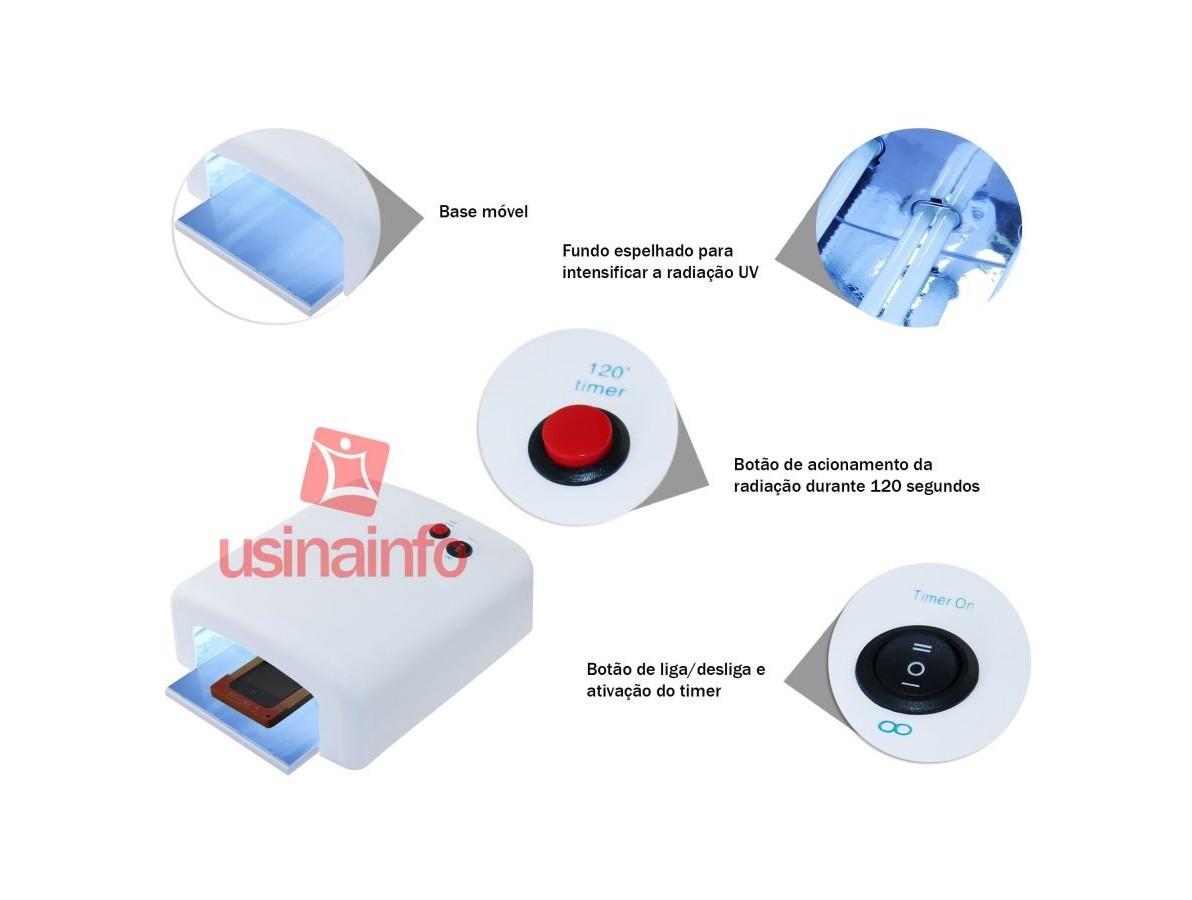 Lâmpada Ultravioleta / Estufa UV para secagem de cola no processo de troca de telas - 36W