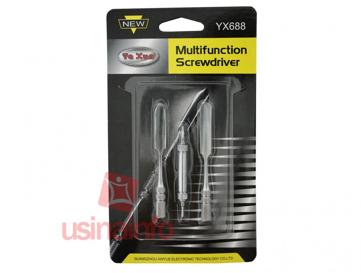 Chave espátula multifunção desmontável - YX688