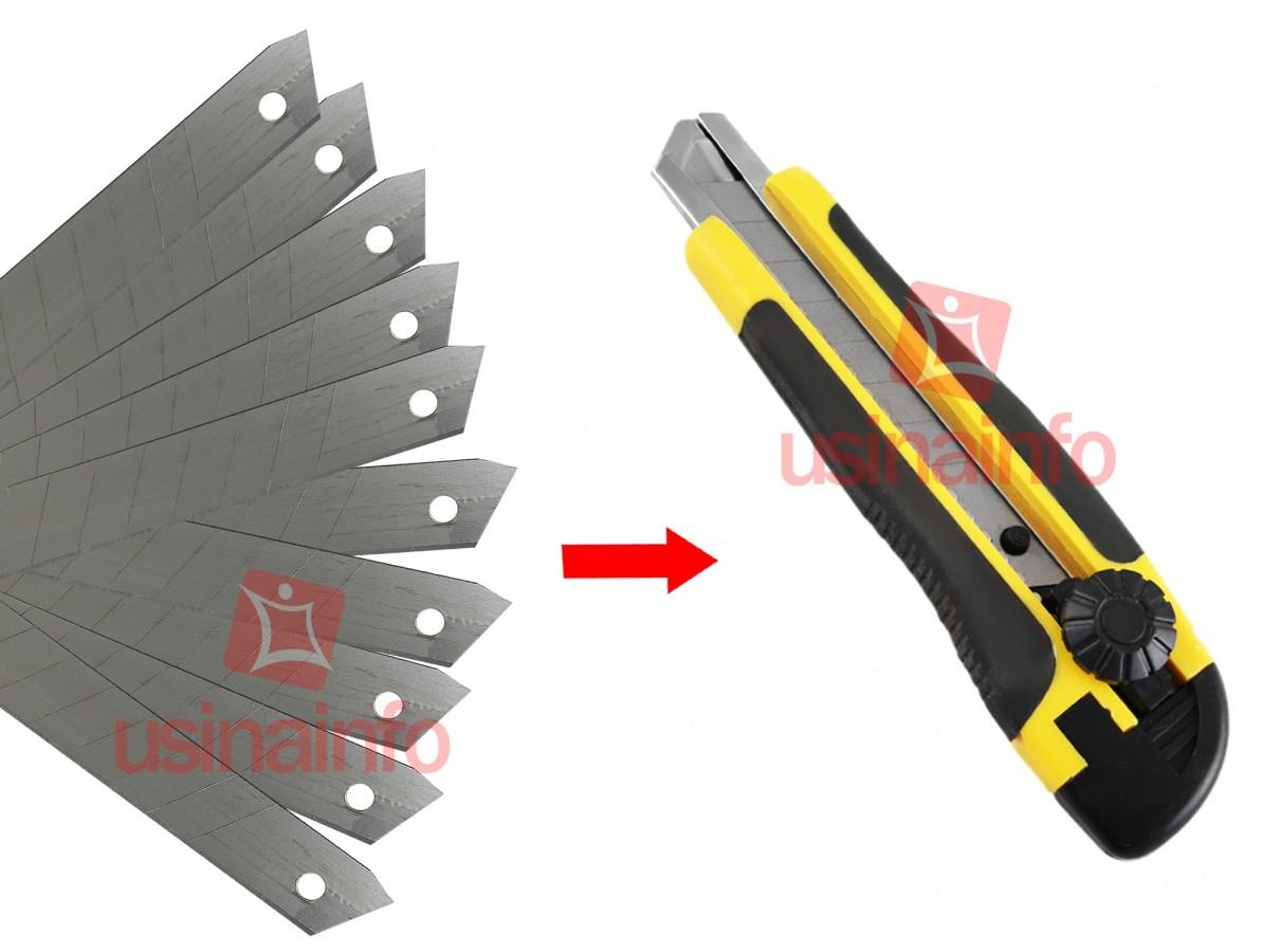 Lamina para estilete 18mm - Kit com 10 peças - Vonder