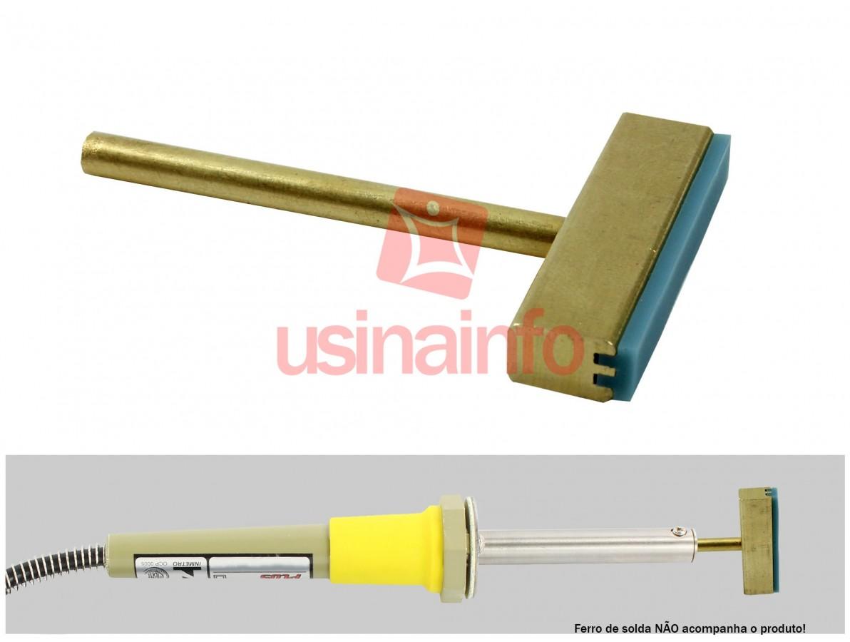 Ponta para ferro de solda 30W de cobre ideal para remoção de trilhas de flex