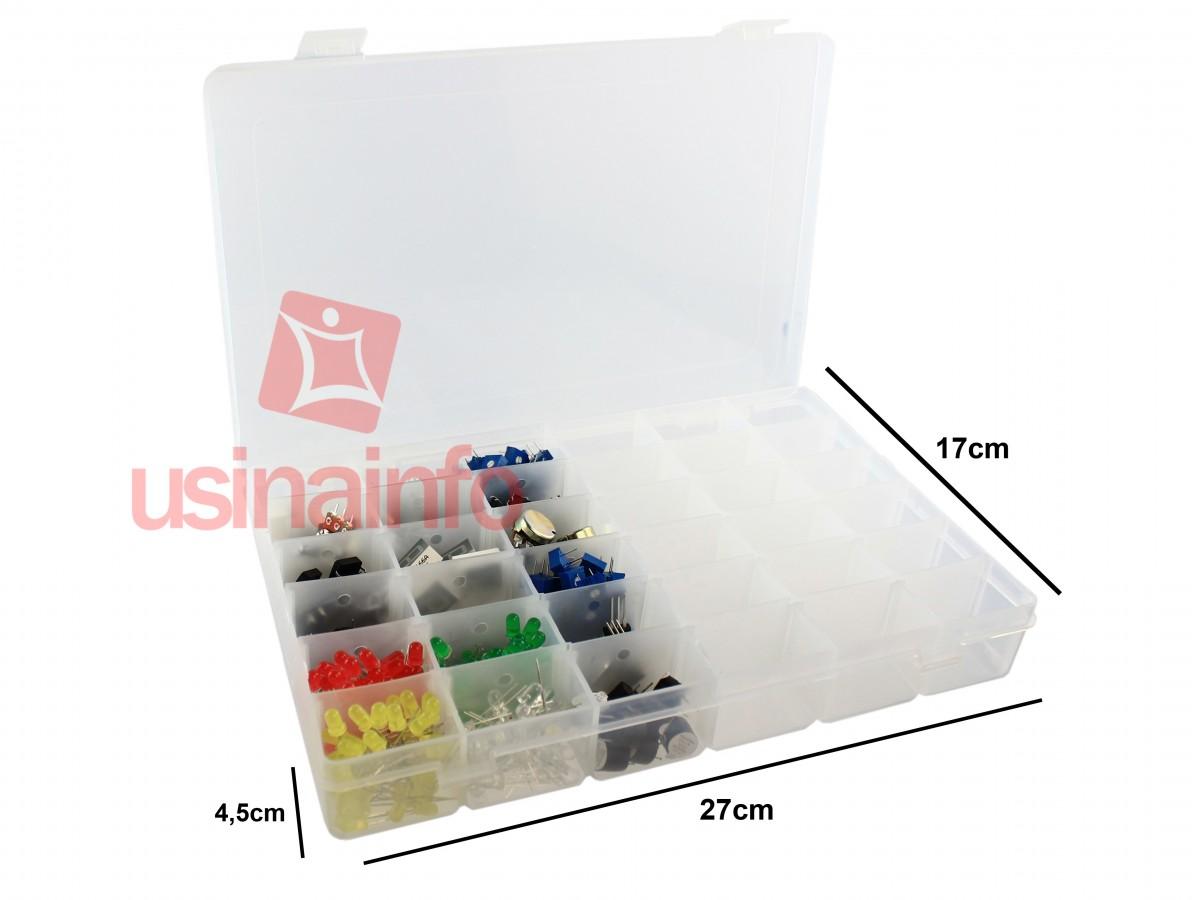 Caixa Organizadora com 36 divisórias ajustáveis
