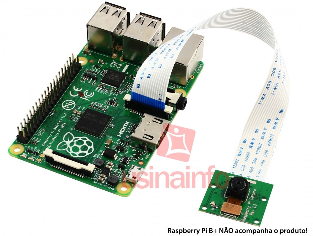 Câmera para Raspberry Pi B e B+ 5MP Conexão CSI