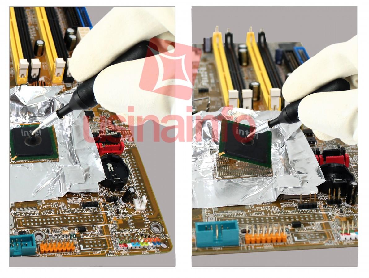 Mini Pinça a Vácuo Antiestática para Remoção de chip's BGA e SMD + 4 ponteiras - Handi-Vac