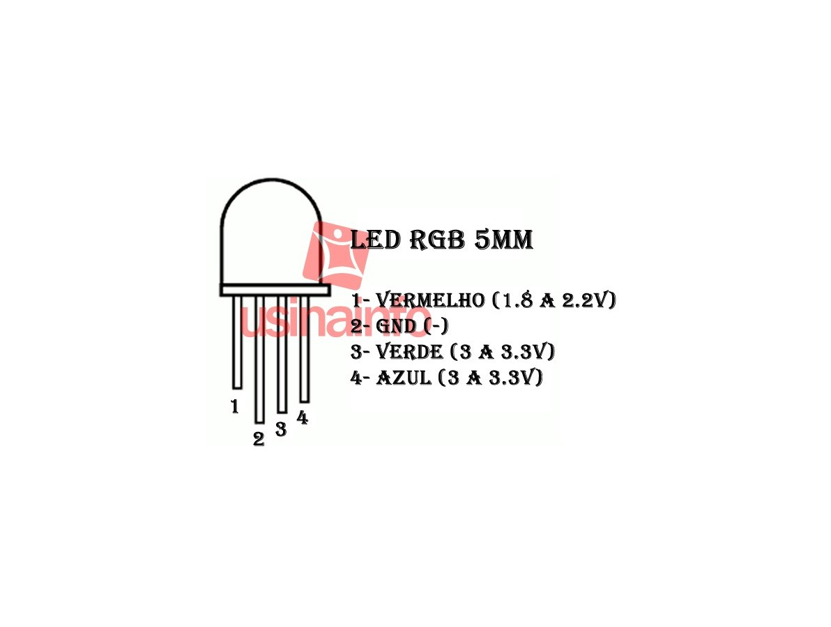 LED RGB de Alto Brilho 5mm