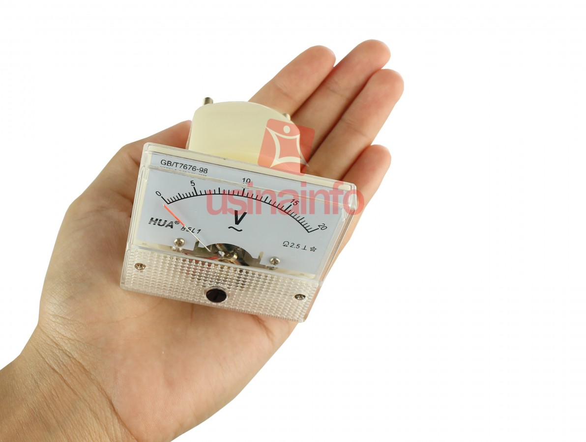 Voltímetro Analógico para Tensão Alternada 0-20VAC