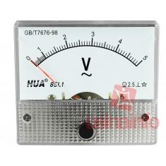 Voltímetro Analógico para Tensão Alternada 0-5VAC