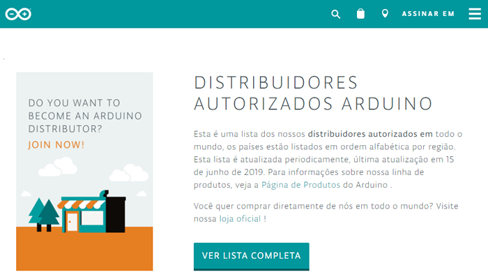 Onde comprar Arduino no Brasil?