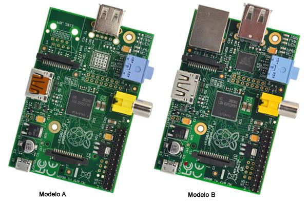 Raspberry Pi Modelo A x Modelo B