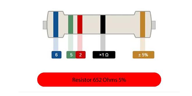 Cálculo Resistor 5 Cores